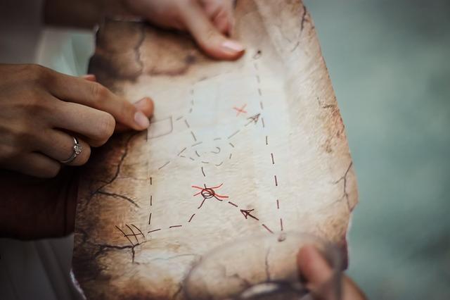 landkaart, eigen pad maken